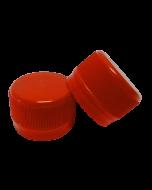 Capac prefiletat din plastic 28 mm rosu, cod DC01 rosu