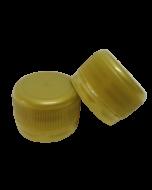 Capac prefiletat din plastic 28 mm auriu, cod DC01 auriu