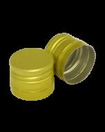 Capac aluminiu prefiletat D30*24 mm auriu, cod DC16 auriu