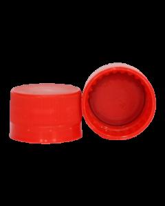 Capac plastic premium cu garnitura D28x18 rosu, cod DC03 rosu