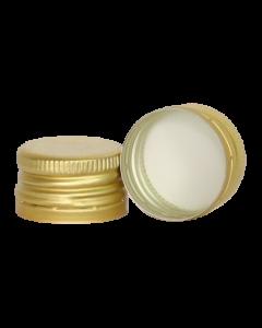 Capac prefiletat din aluminiu D28*18 mm auriu, cod DC15 auriu