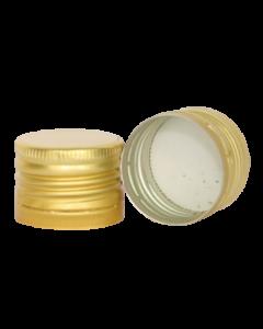 Capac aluminiu prefiletat D31.5*24 auriu, cod DC18 auriu