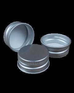 Capac aluminiu prefiletat D26*12 mm argintiu, cod DC21 argintiu