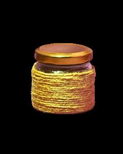 Borcan 106 ml Oval in sfoara iuta, cod HM006