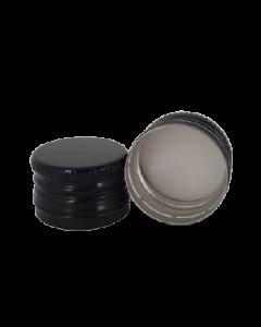 Capac aluminiu prefiletat D25*17 negru, cod DC14 negru